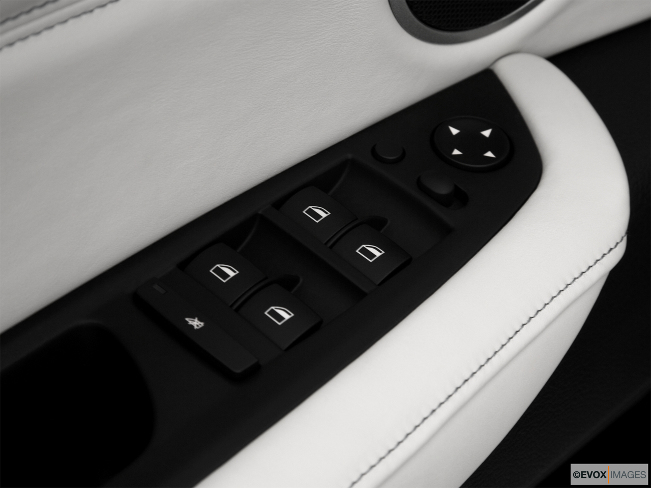 2010 BMW X6 Hybrid Base Driver's side inside window controls.