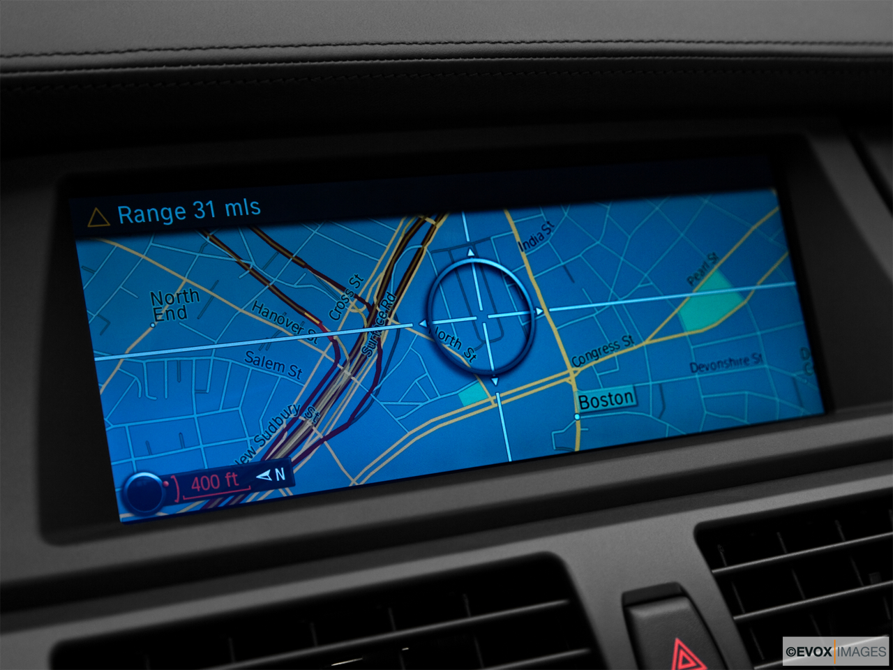 2010 BMW X6 Hybrid Base Driver position view of navigation system.