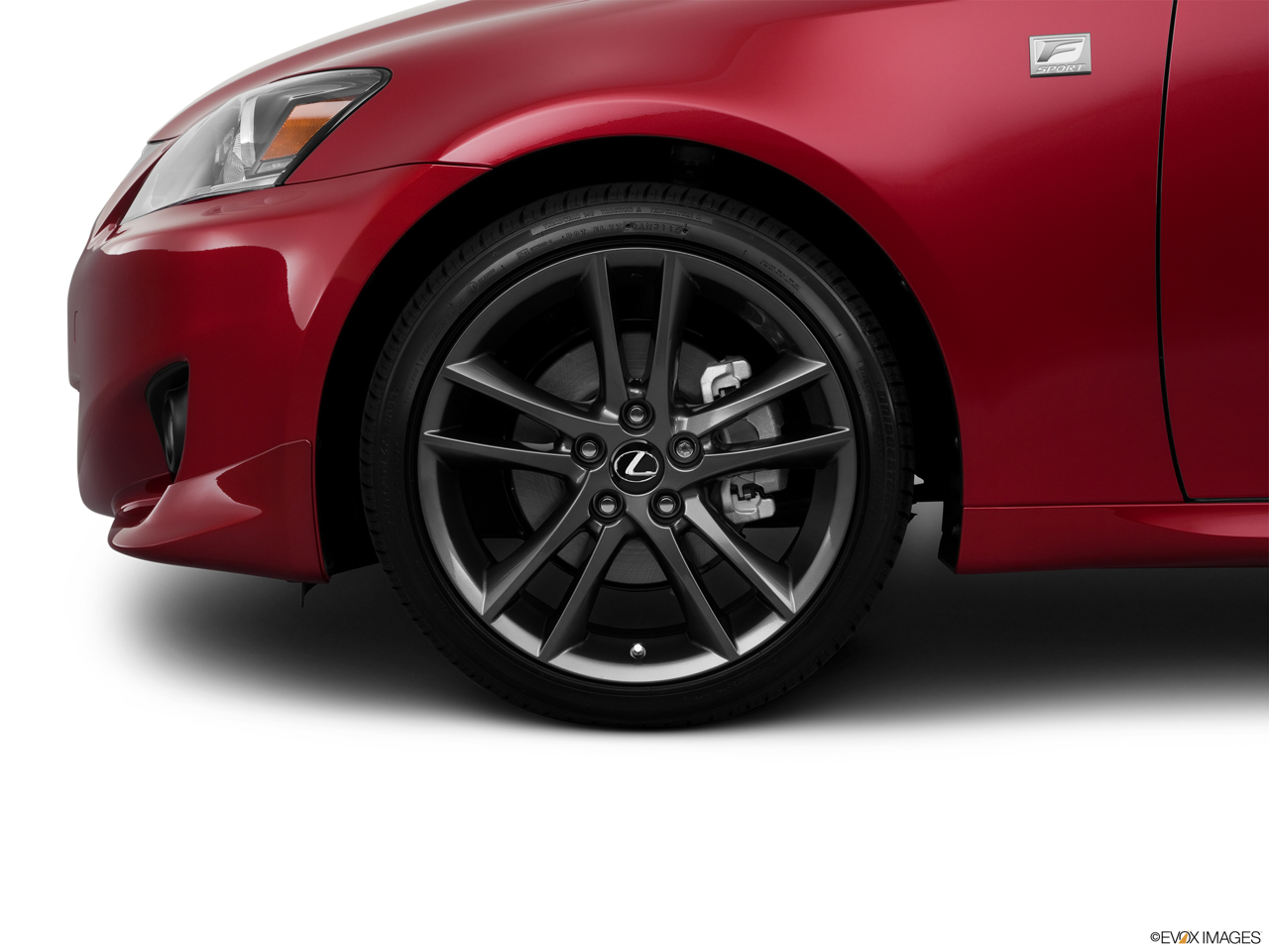 2011 Lexus IS 250 IS250 Front Drivers side wheel at profile.