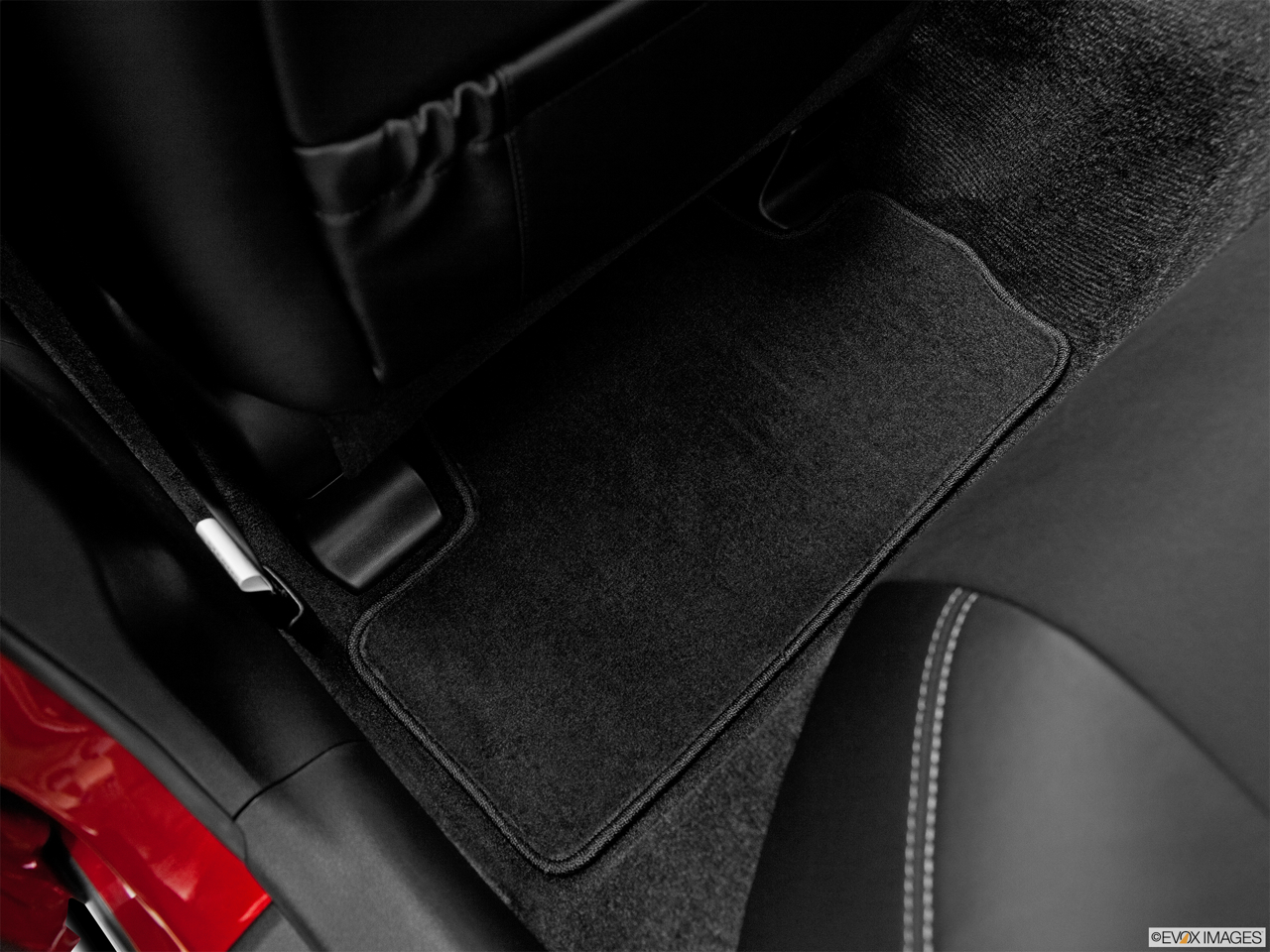 2011 Lexus IS 250 IS250 Rear driver's side floor mat. Mid-seat level from outside looking in.