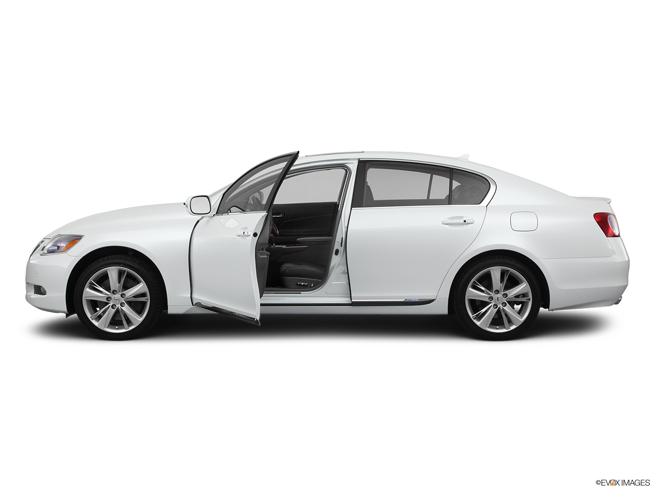2011 Lexus GS Hybrid GS450h Driver's side profile with drivers side door open.