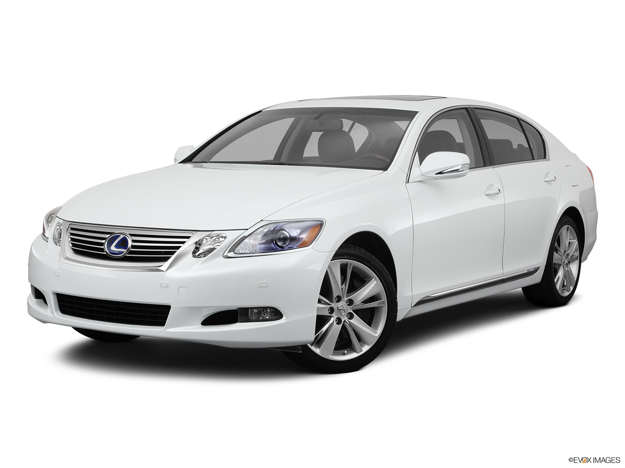 2011 Lexus GS Hybrid GS450h Front angle medium view.