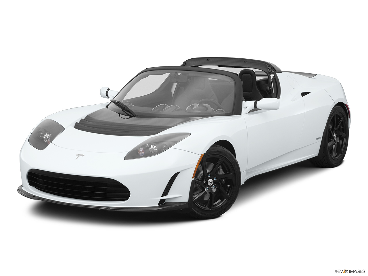 2010 Tesla Roadster sport Front angle view.