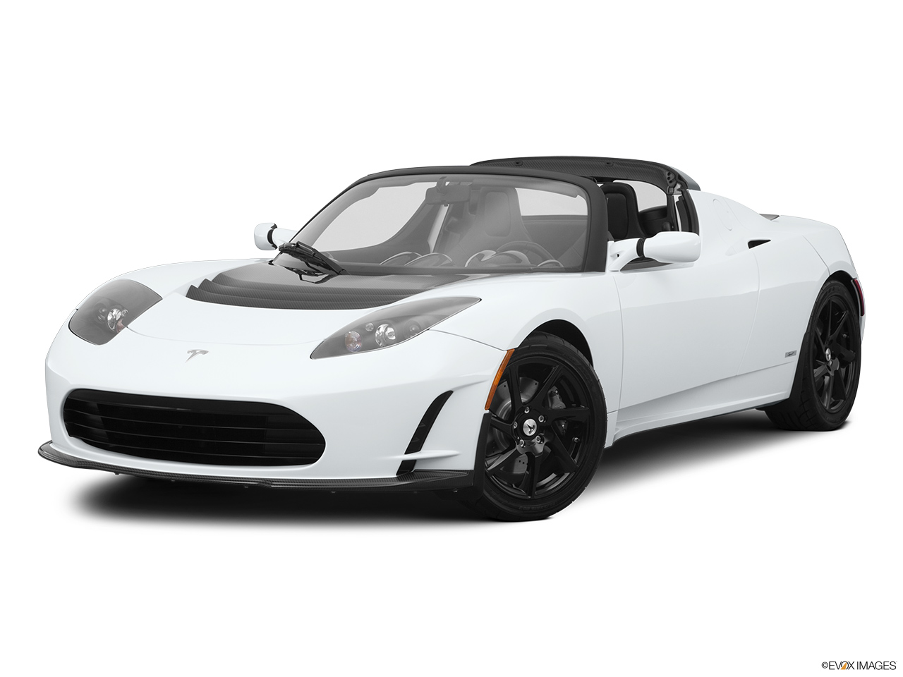 2010 Tesla Roadster sport Front angle medium view.