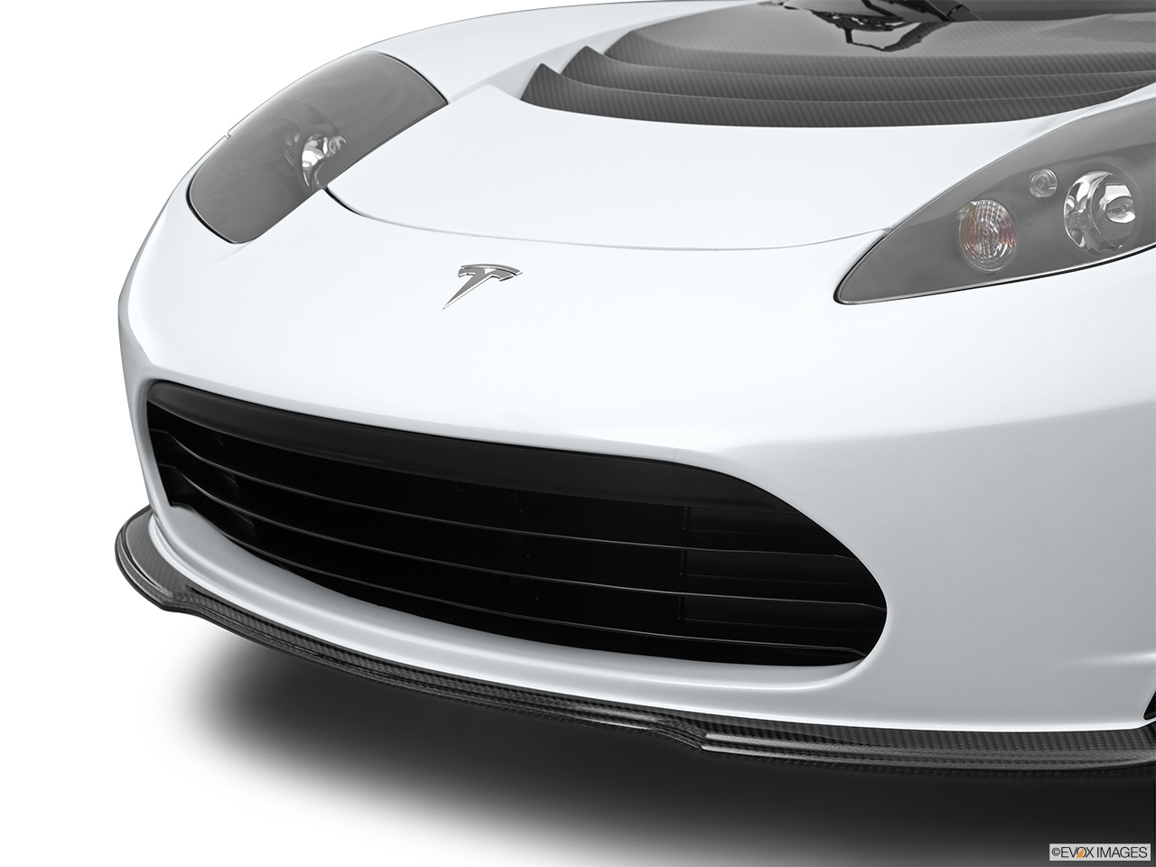 2010 Tesla Roadster sport Close up of Grill.