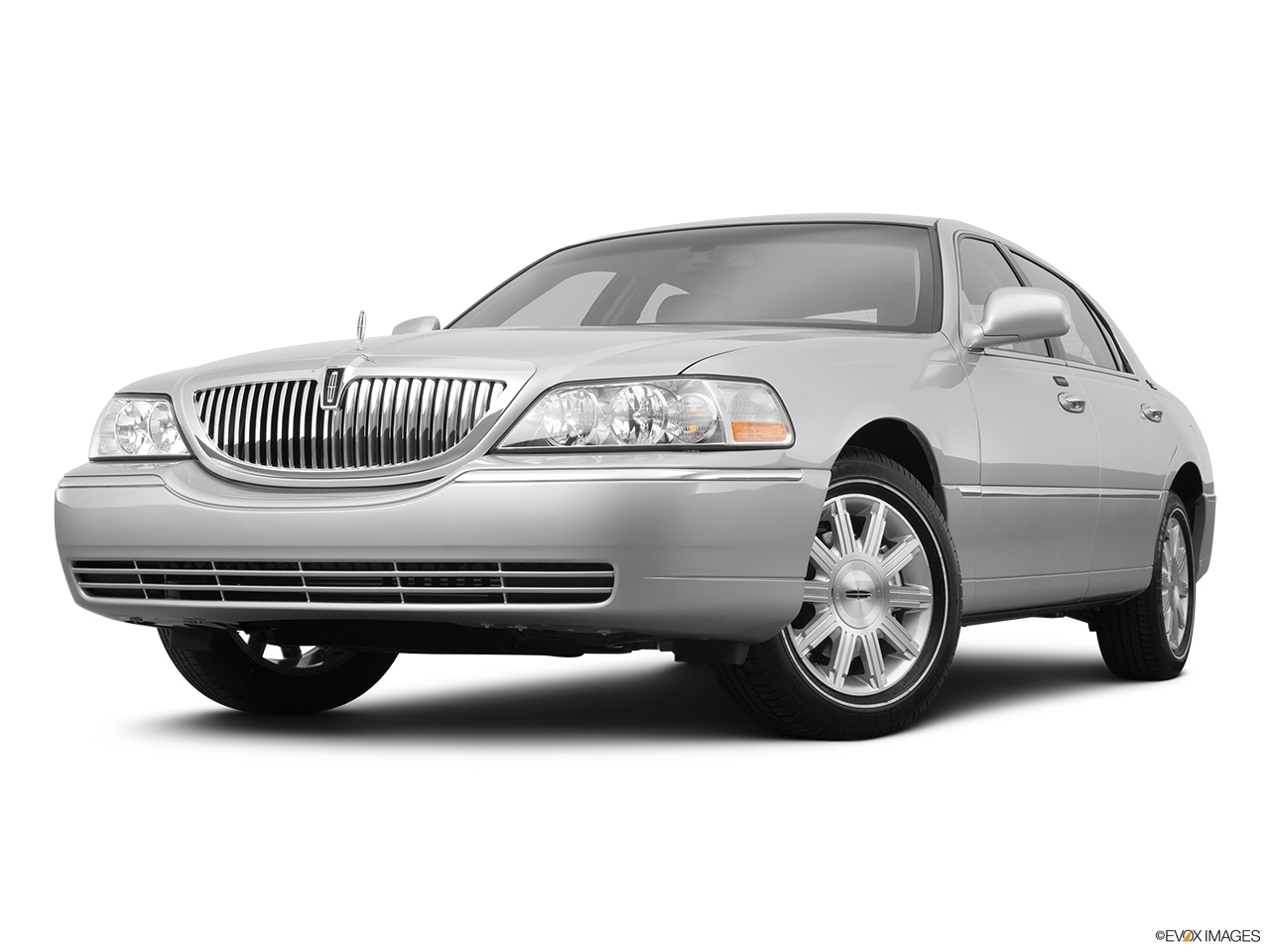 2011 Lincoln Town Car Signature Limited Front angle view, low wide perspective.