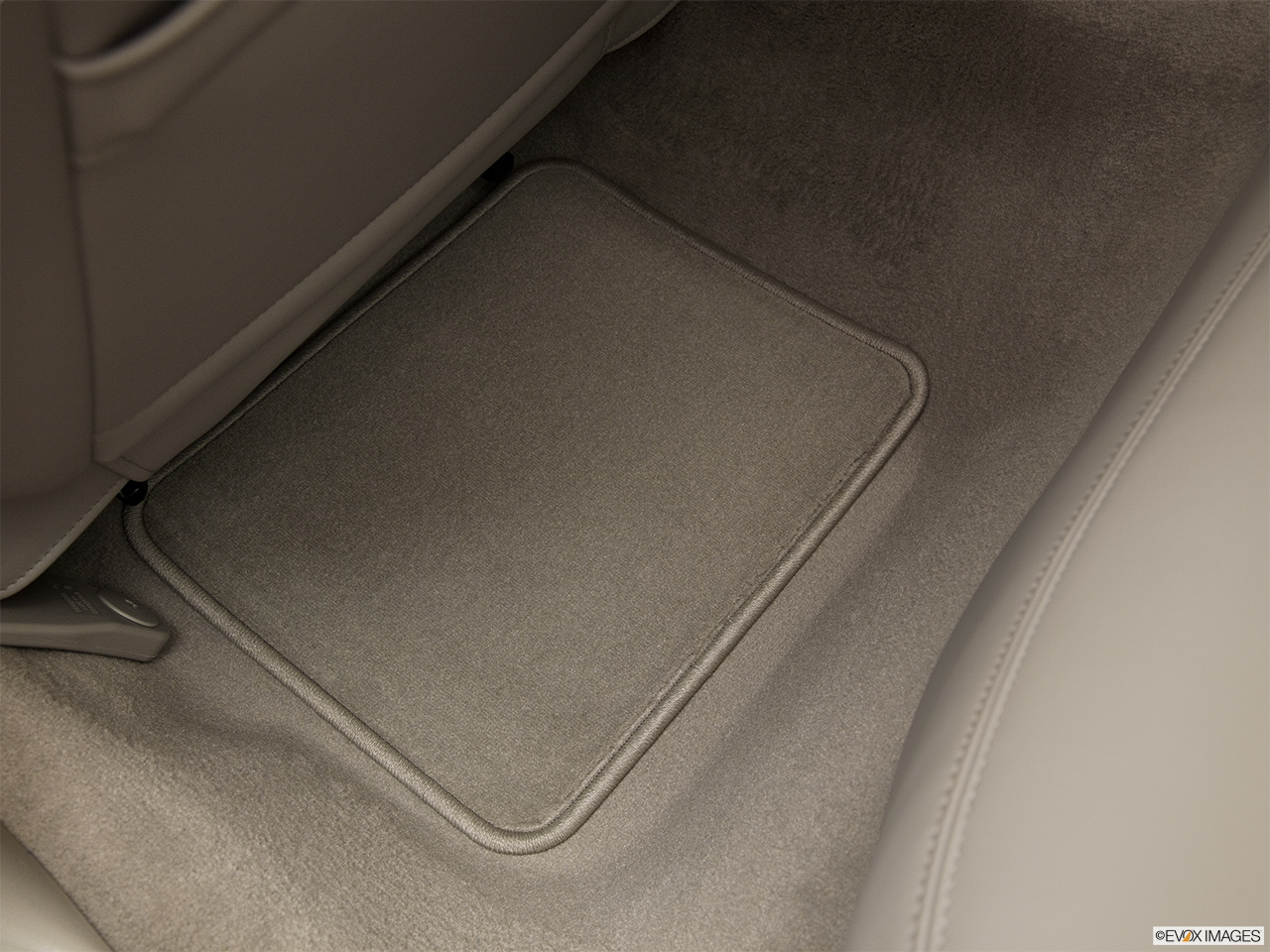 2011 Lincoln Town Car Signature Limited Rear driver's side floor mat. Mid-seat level from outside looking in.