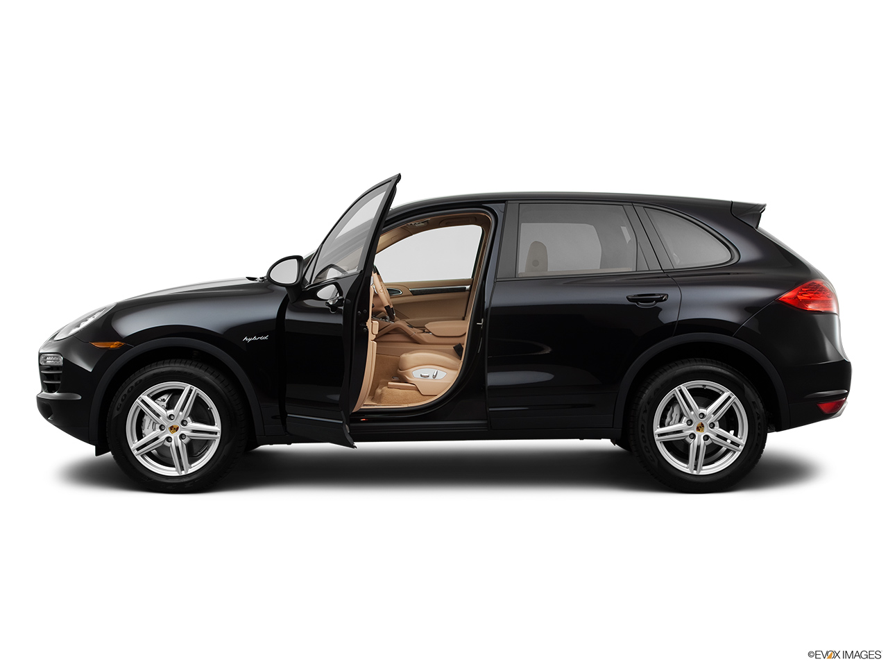 2011 Porsche Cayenne S Hybrid Base Driver's side profile with drivers side door open.