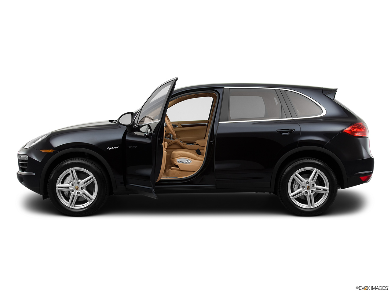 2012 Porsche Cayenne Hybrid Hybrid S Driver's side profile with drivers side door open.
