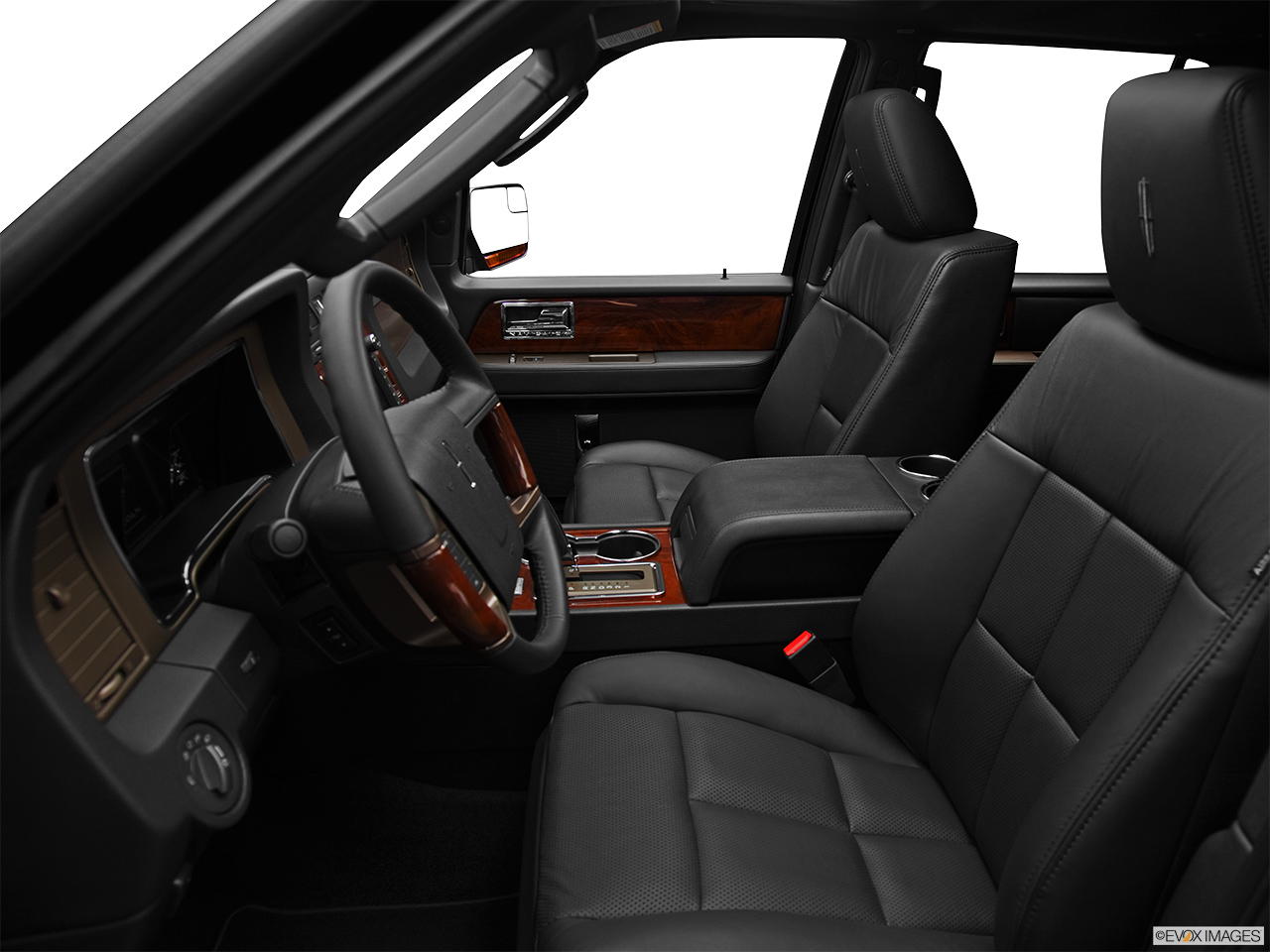2012 Lincoln Navigator Base Front seats from Drivers Side.