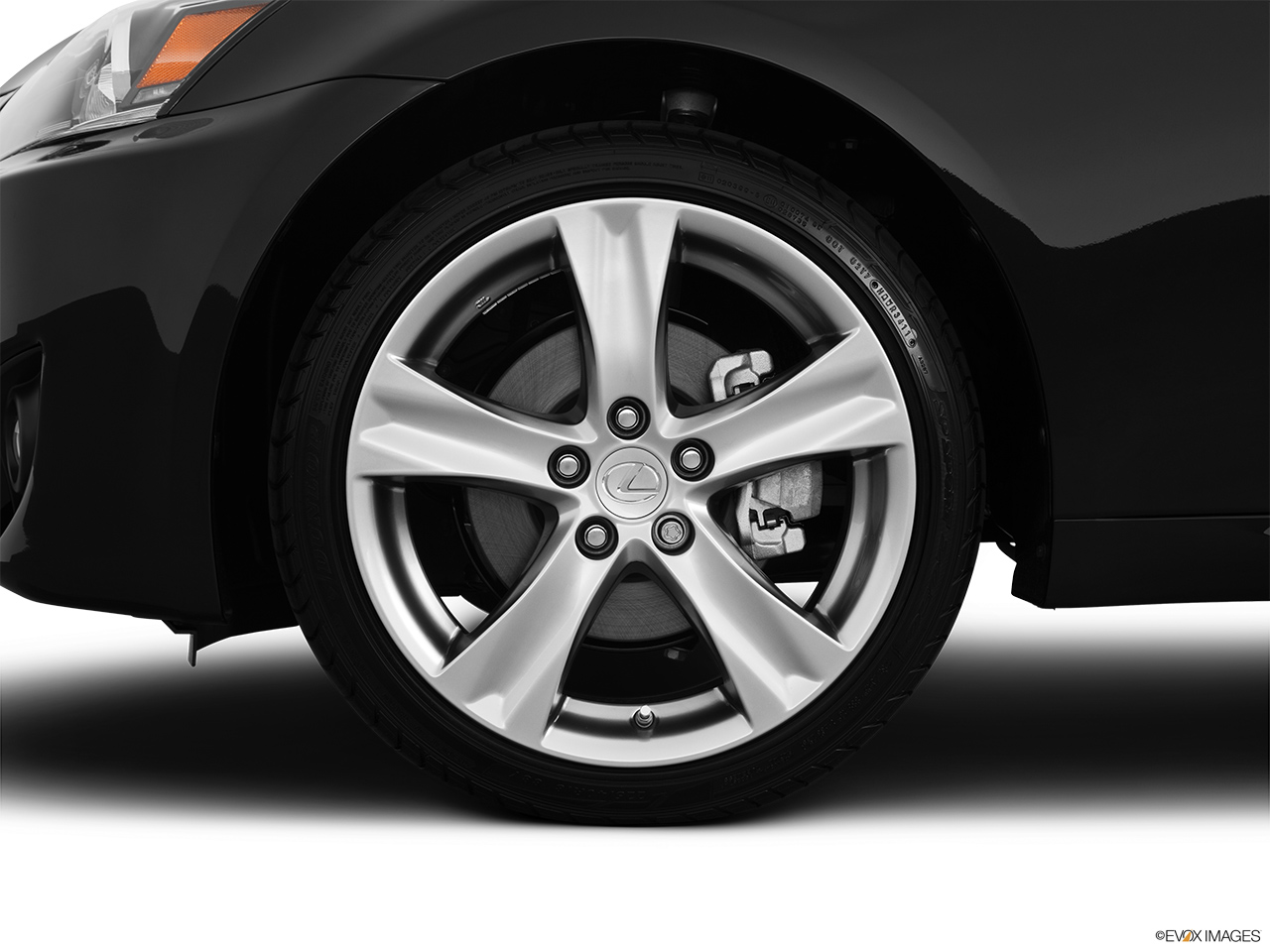 2012 Lexus IS 250 IS250 Front Drivers side wheel at profile.