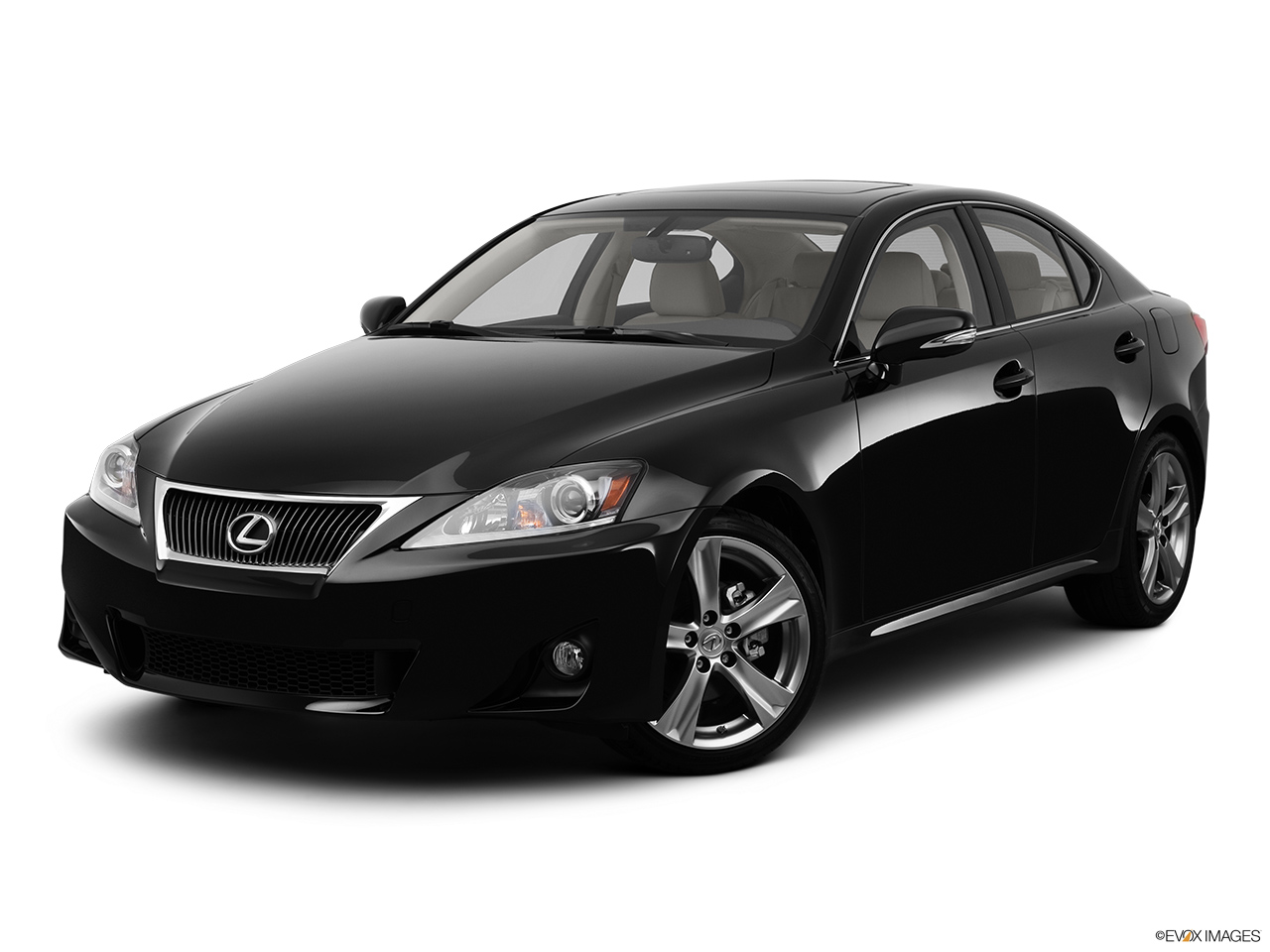 2012 Lexus IS 250 IS250 Front angle medium view.