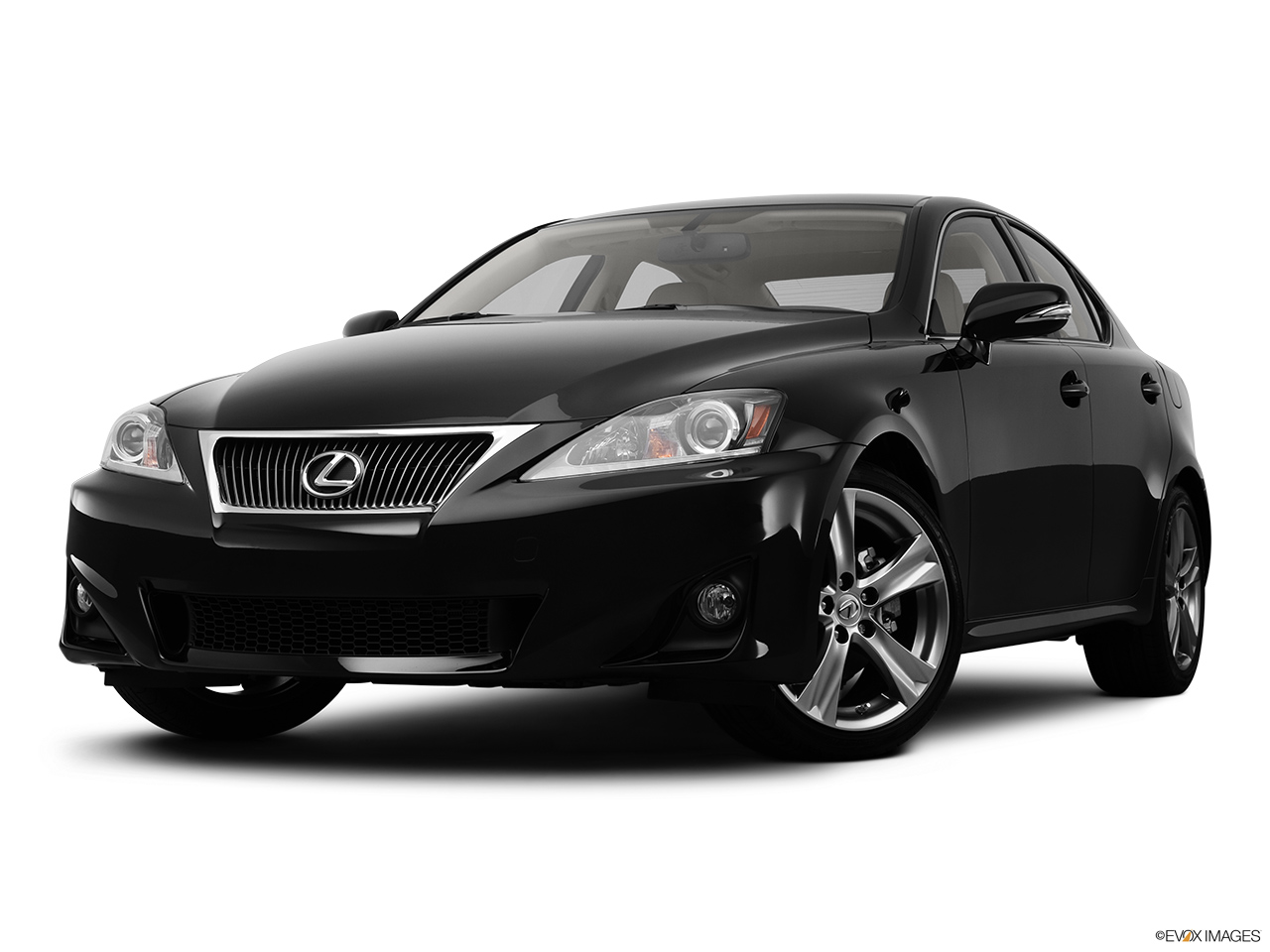 2012 Lexus IS 250 IS250 Front angle view, low wide perspective.