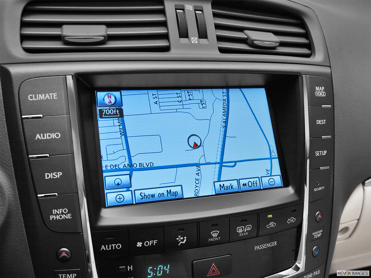 2012 Lexus IS 250 IS250 Driver position view of navigation system.