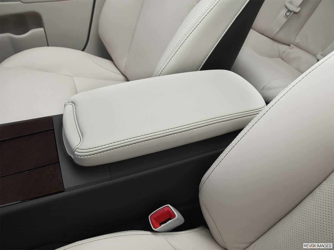 2012 Lexus IS 250 IS250 Front center console with closed lid, from driver's side looking down