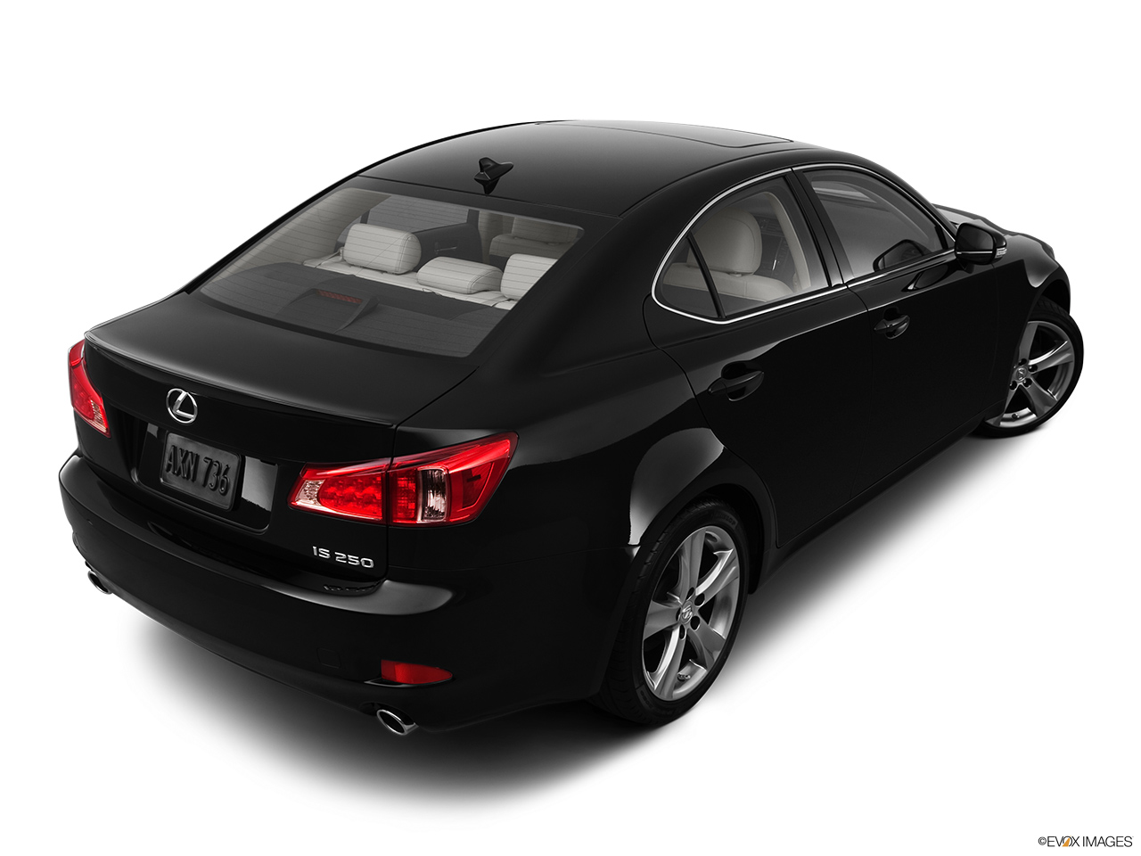 2012 Lexus IS 250 IS250 Rear 3/4 angle view.