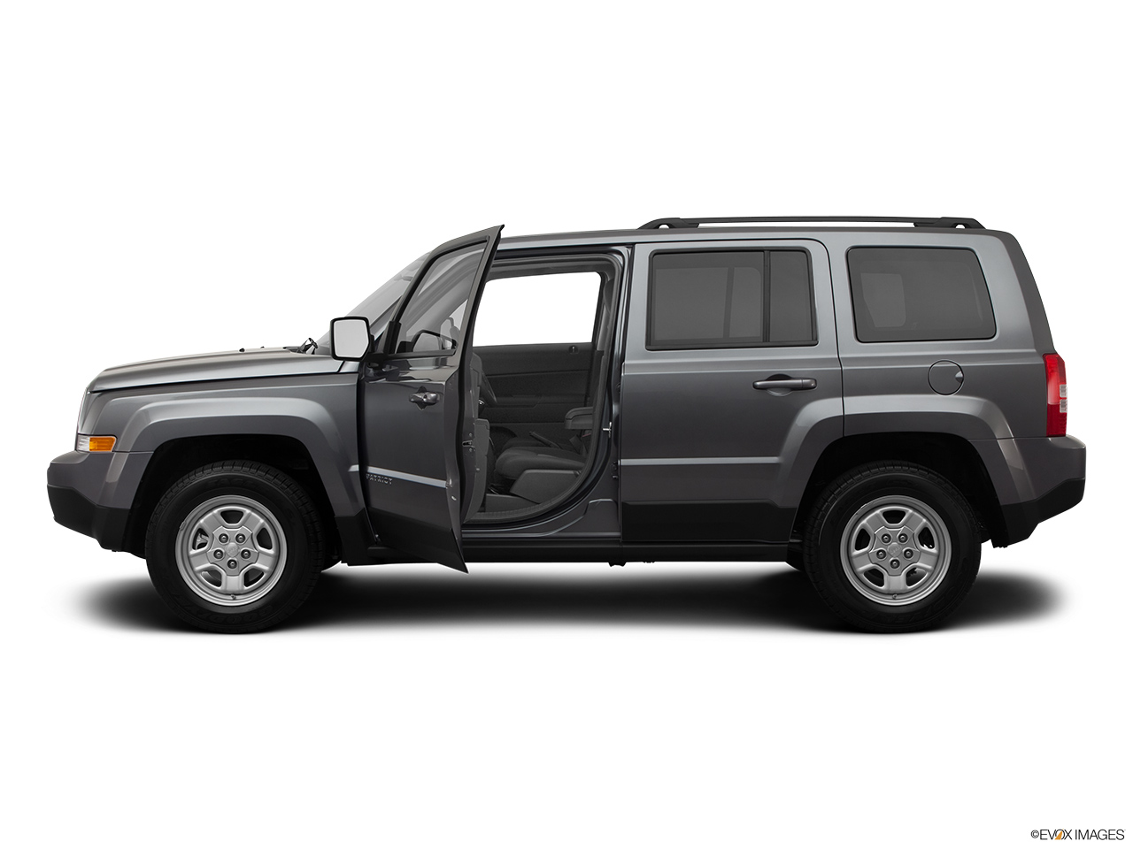2012 Jeep Patriot Sport Driver's side profile with drivers side door open.