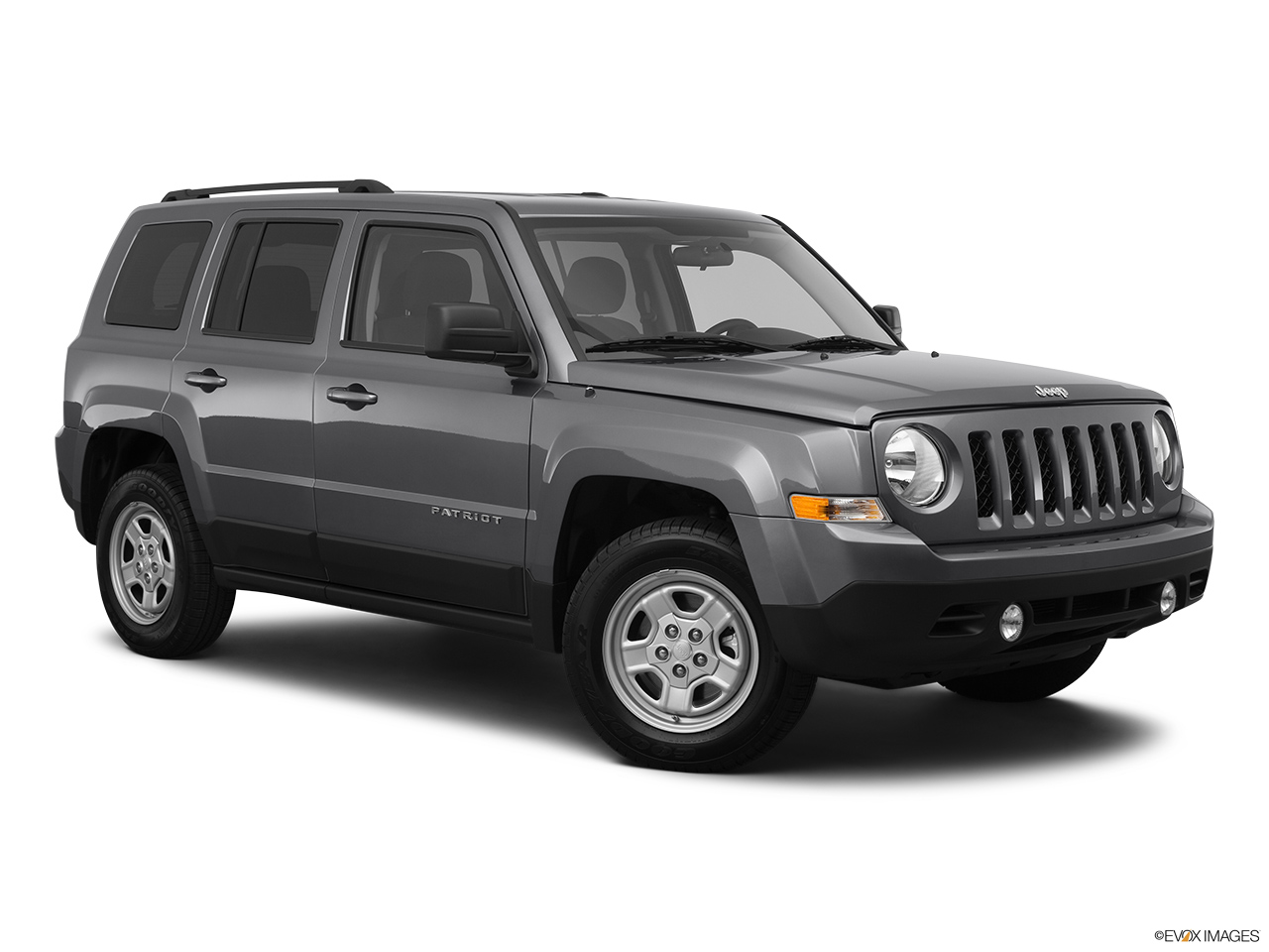 2012 Jeep Patriot Sport Front passenger 3/4 w/ wheels turned.