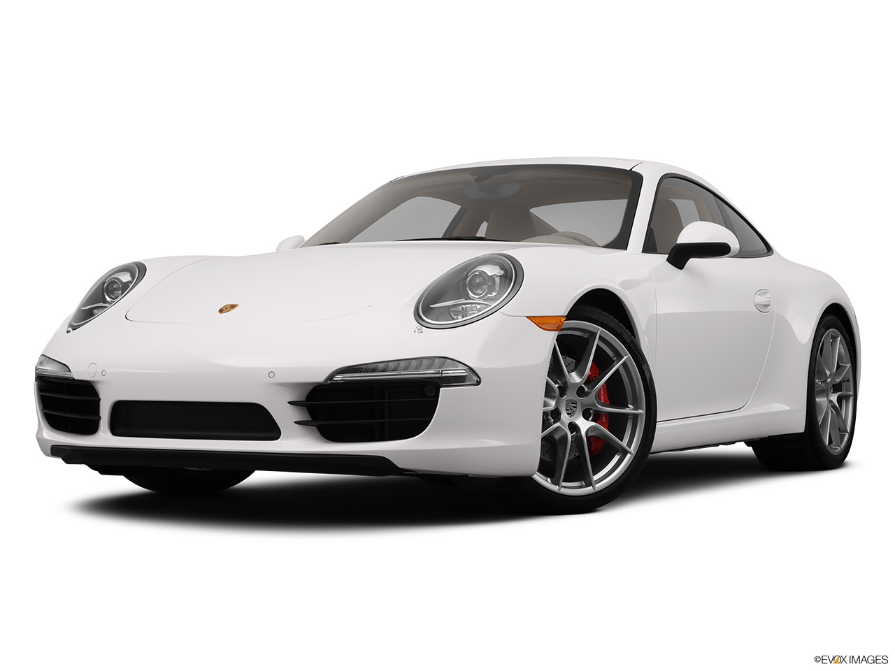 2012 Porsche 911 (991) Carrera S Front angle view, low wide perspective.