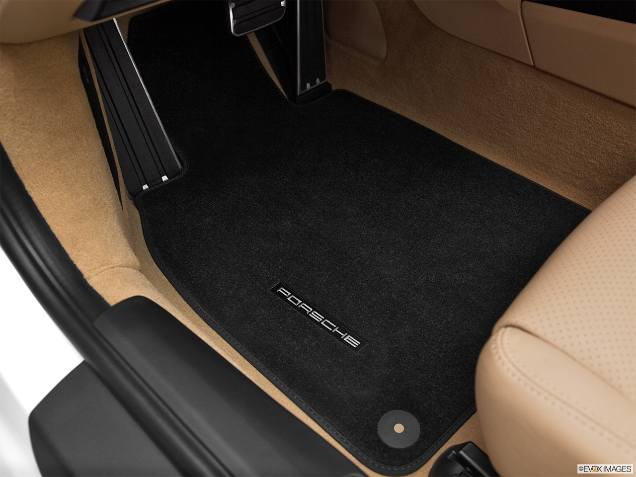 2012 Porsche 911 (991) Carrera S Driver's floor mat and pedals. Mid-seat level from outside looking in.