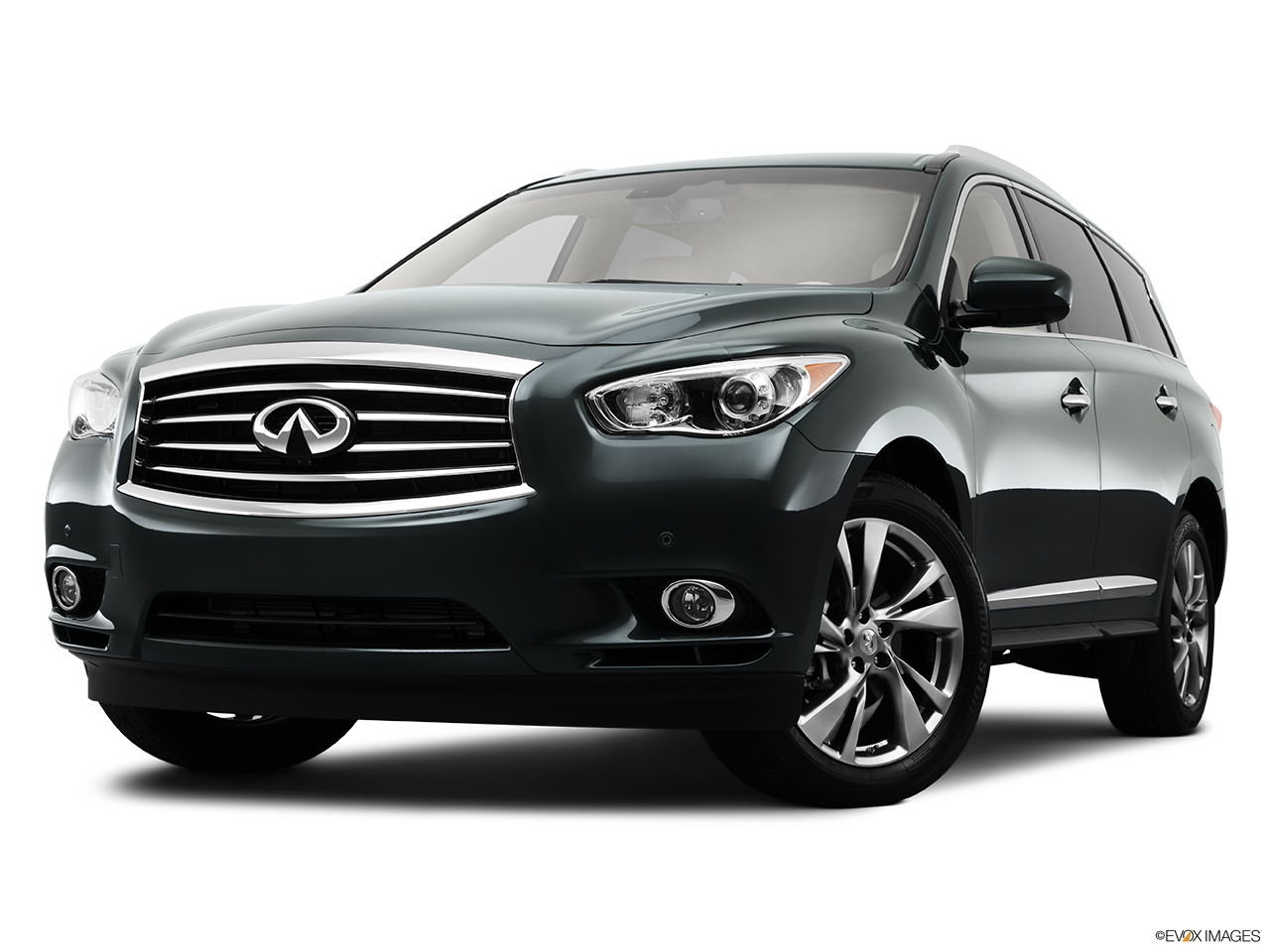 2013 Infiniti JX JX35 Front angle view, low wide perspective.