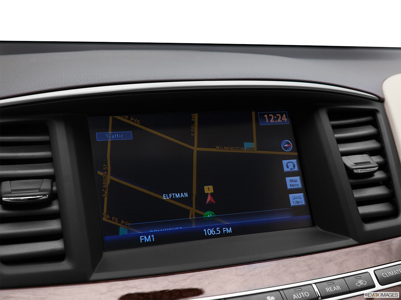2013 Infiniti JX JX35 Driver position view of navigation system.