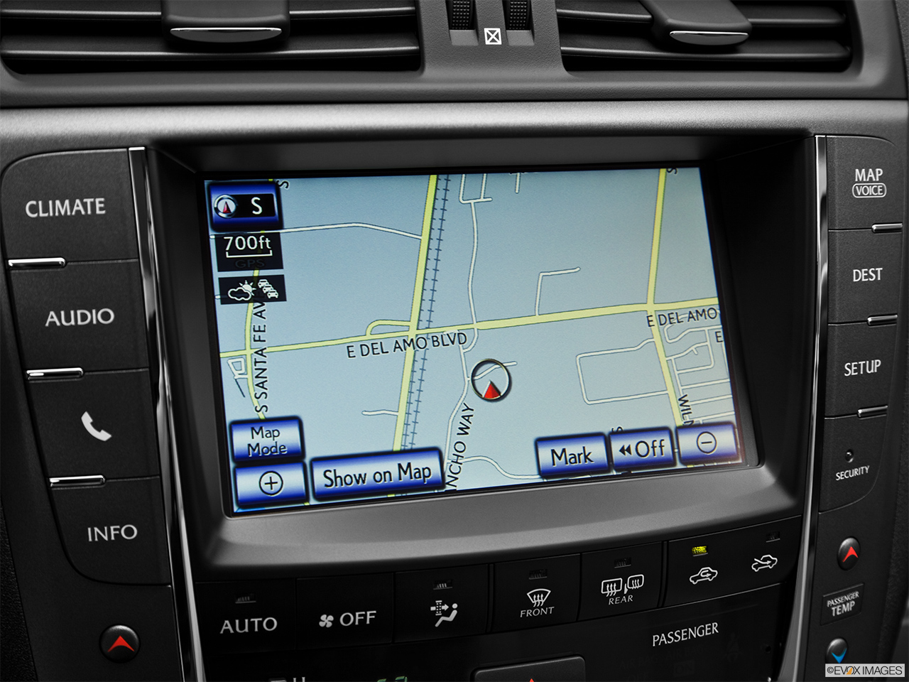 2013 Lexus IS 250 IS 250 RWD Driver position view of navigation system.