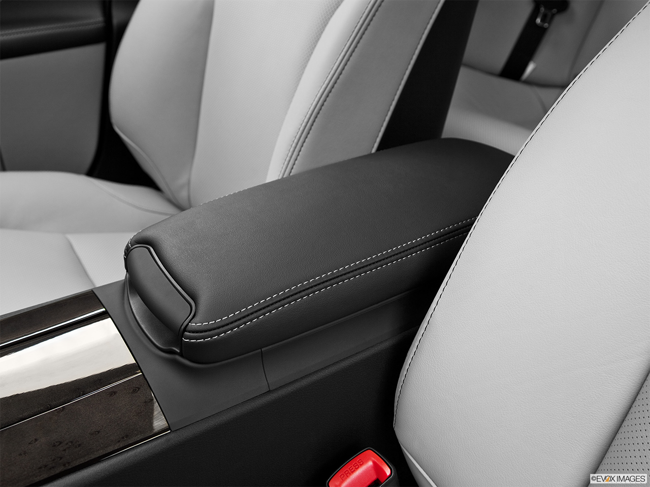 2013 Lexus IS 250 IS 250 RWD Front center console with closed lid, from driver's side looking down