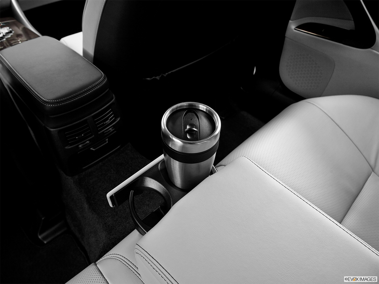 2013 Lexus IS 250 IS 250 RWD Third Row center cup holder with coffee prop.