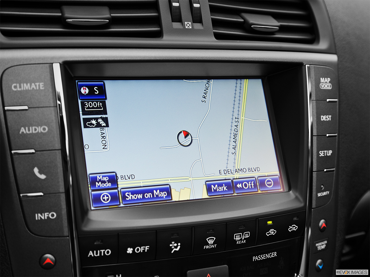 2013 Lexus IS 250C IS 250 C RWD Driver position view of navigation system.