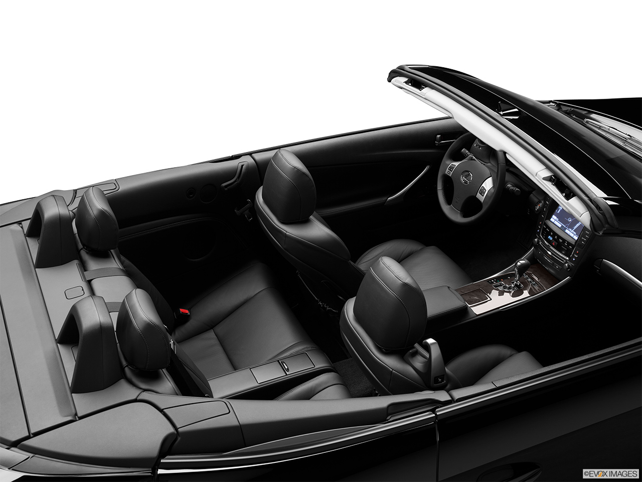 2013 Lexus IS 250C IS 250 C RWD Convertible Hero (high from passenger, looking down into interior).
