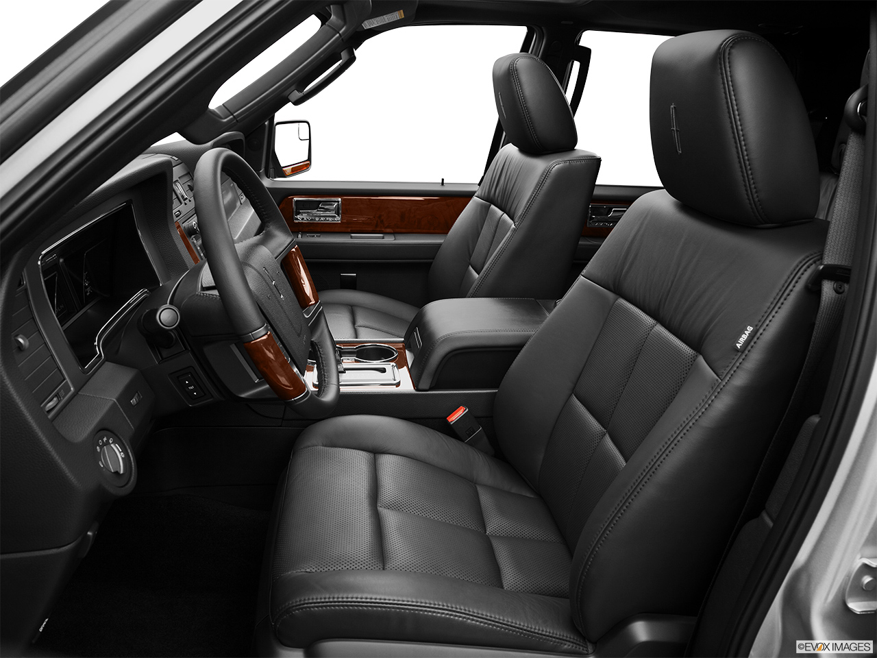 2013 Lincoln Navigator Base Front seats from Drivers Side.