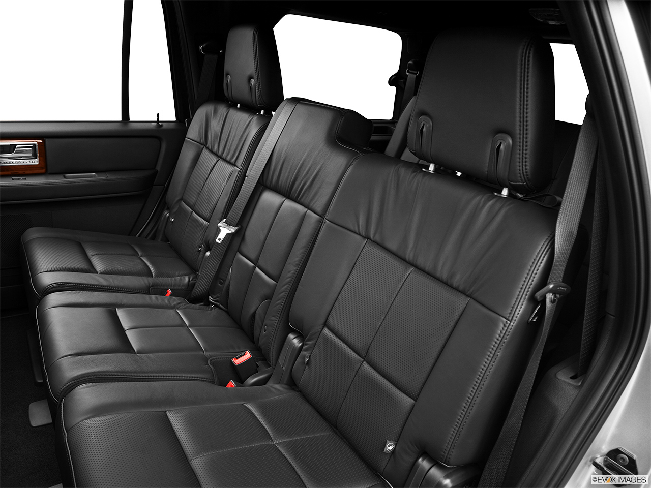 2013 Lincoln Navigator Base Rear seats from Drivers Side.