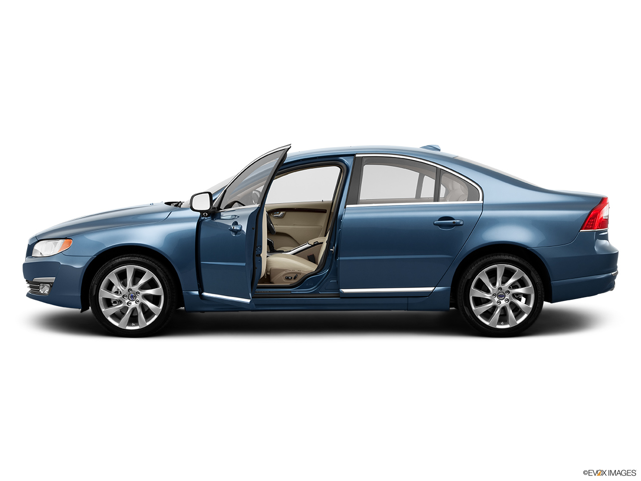 2014 Volvo S80 T6 AWD Platinum Driver's side profile with drivers side door open.