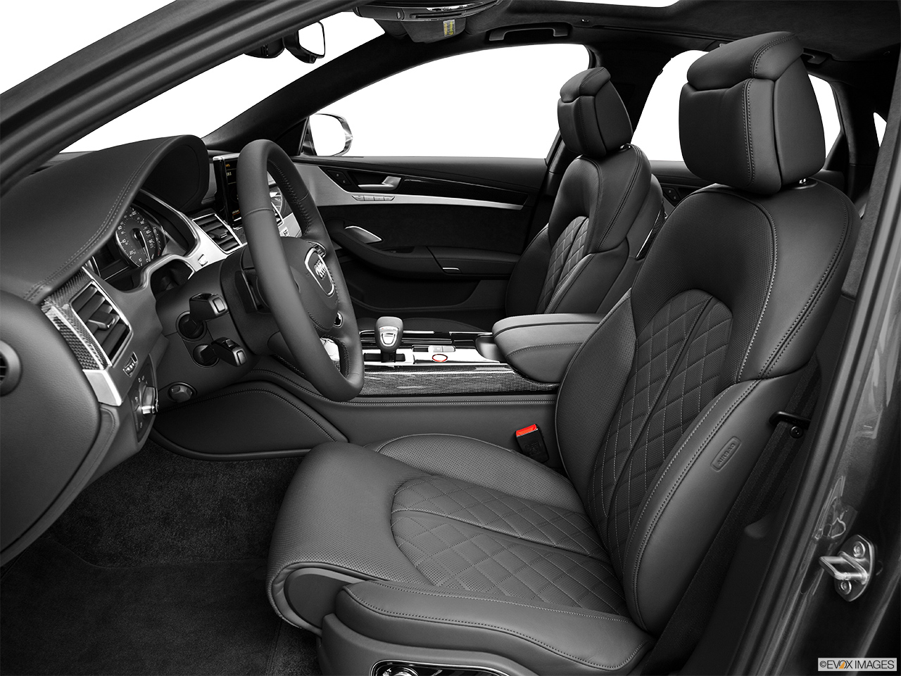 2014 Audi S8 4.0 TFSI Front seats from Drivers Side.