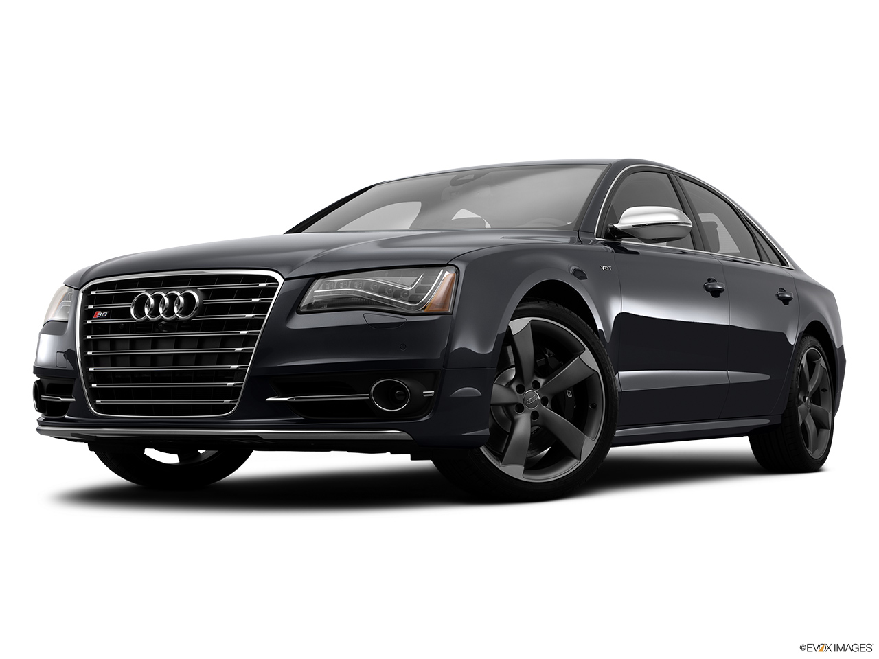 2014 Audi S8 4.0 TFSI Front angle view, low wide perspective.