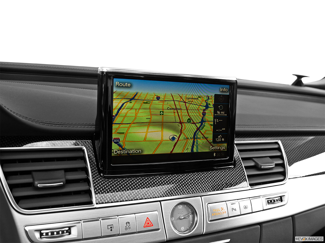 2014 Audi S8 4.0 TFSI Driver position view of navigation system.