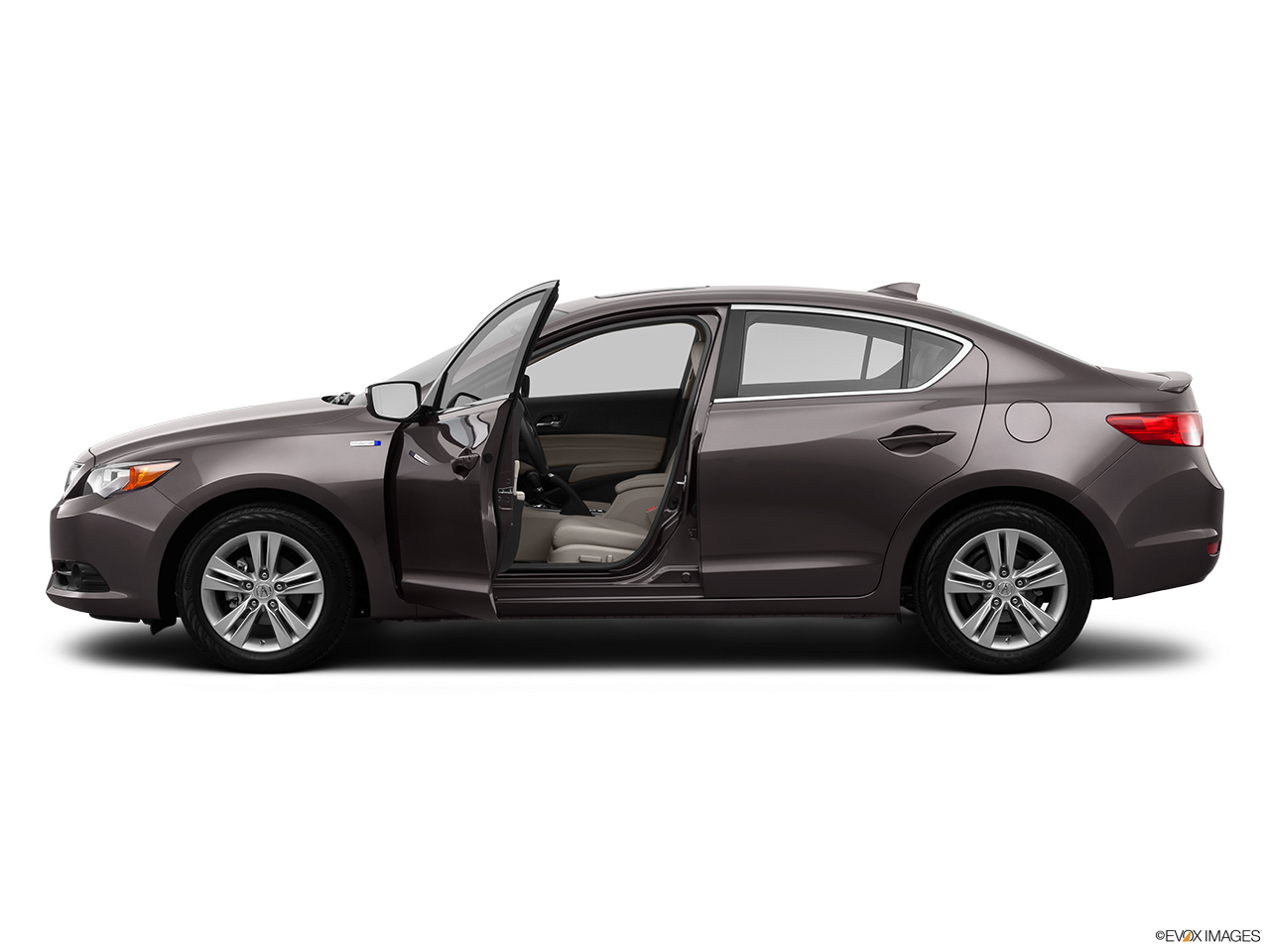 2014 Acura ILX Hybrid Base Driver's side profile with drivers side door open.