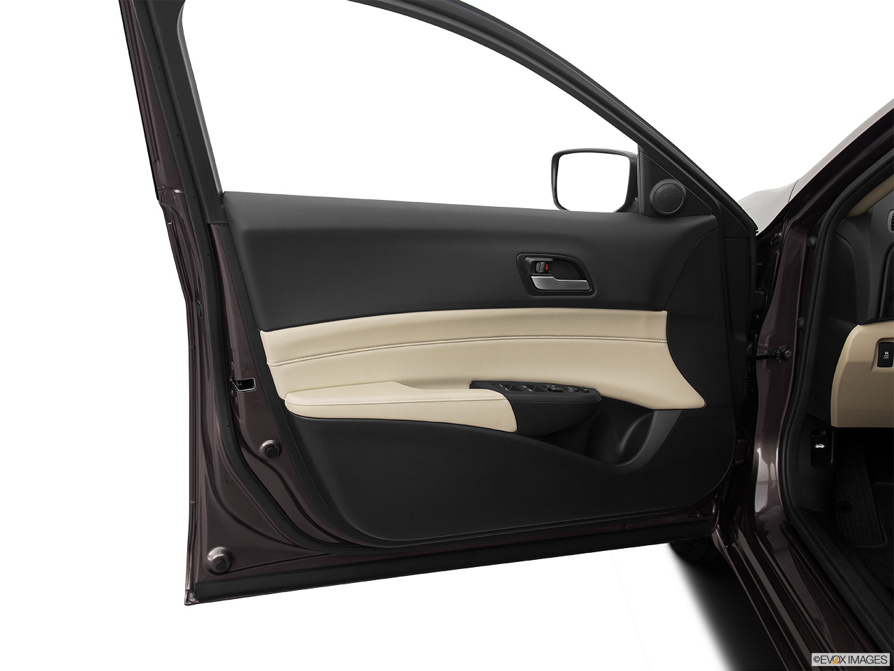 2014 Acura ILX Hybrid Base Inside of driver's side open door, window open.
