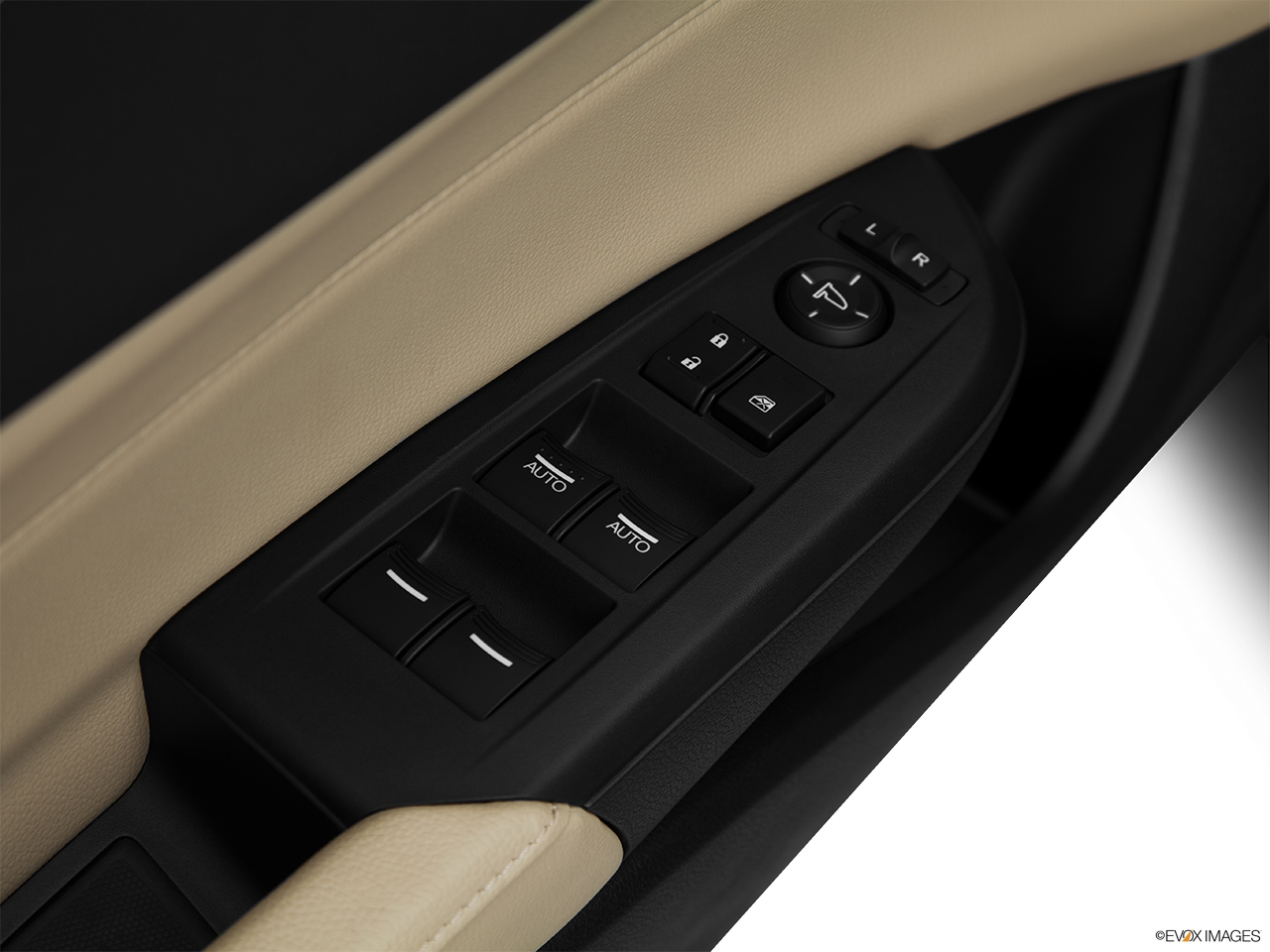 2014 Acura ILX Hybrid Base Driver's side inside window controls.