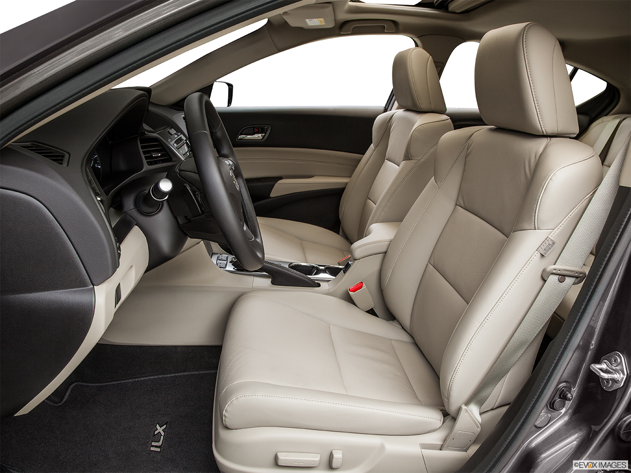 2014 Acura ILX Hybrid Base Front seats from Drivers Side.