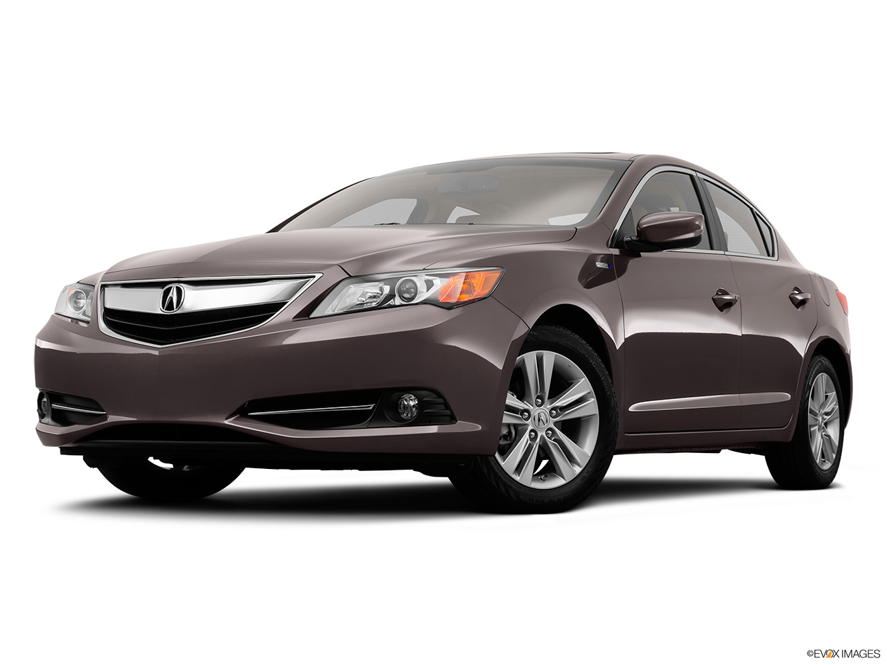 2014 Acura ILX Hybrid Base Front angle view, low wide perspective.