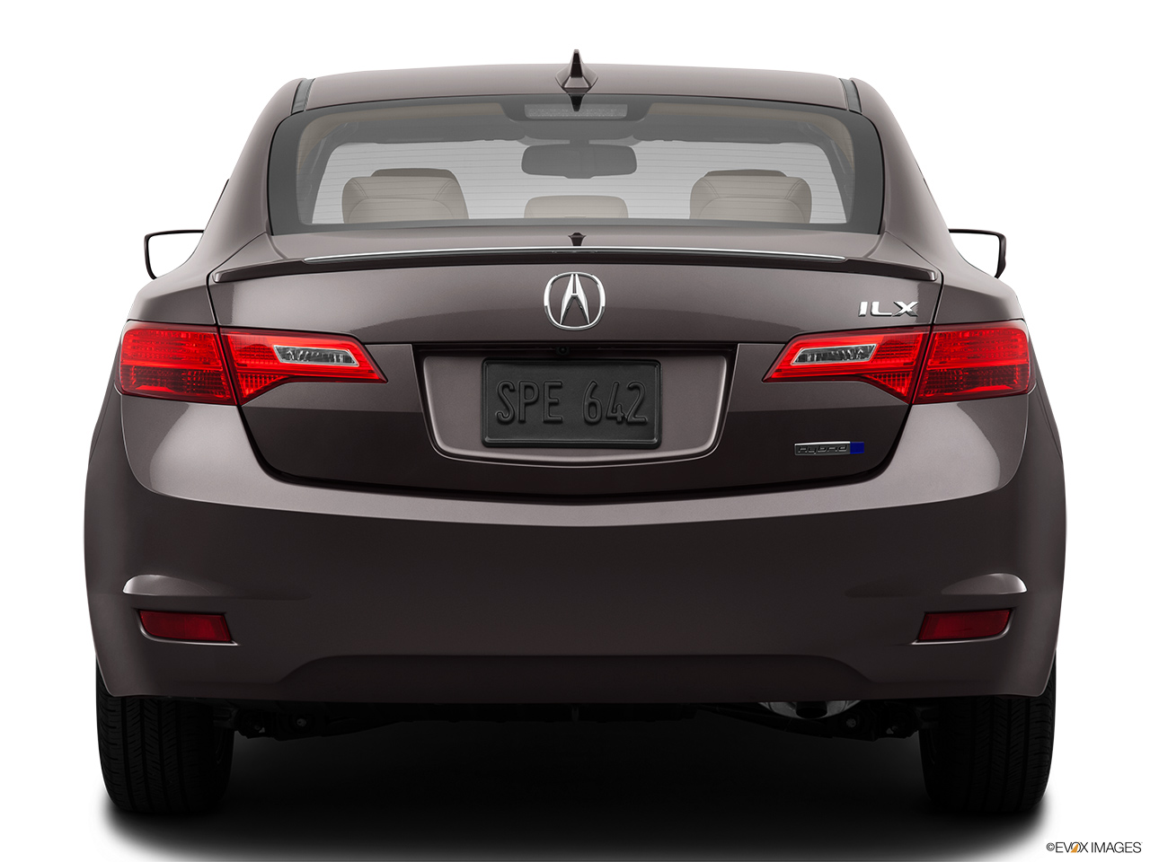 2014 Acura ILX Hybrid Base Low/wide rear.