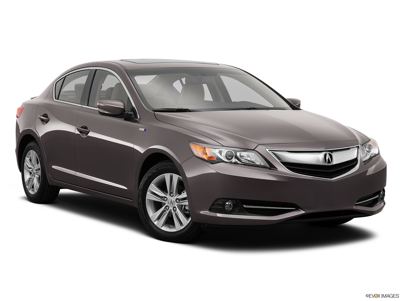 2014 Acura ILX Hybrid Base Front passenger 3/4 w/ wheels turned.