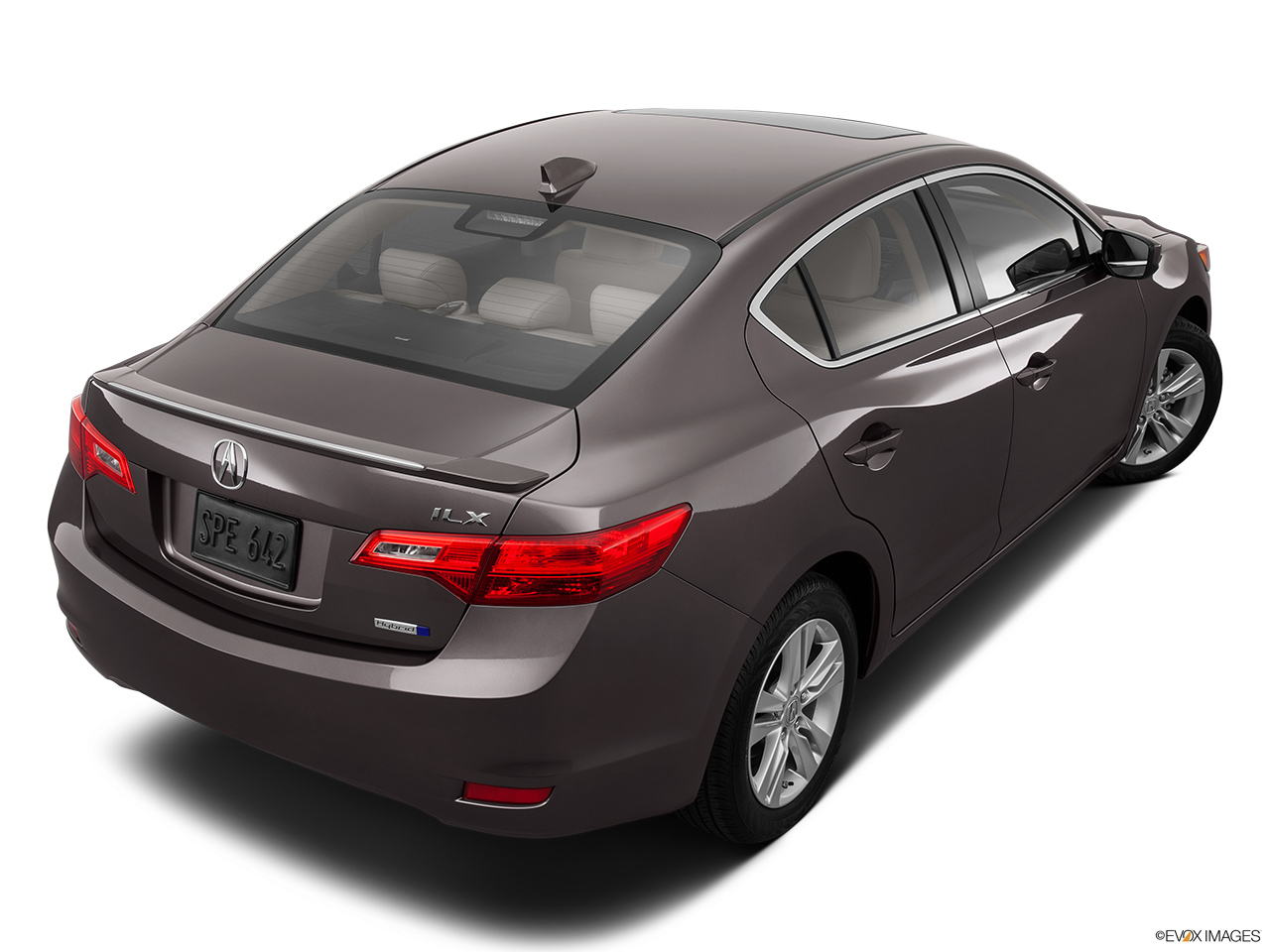 2014 Acura ILX Hybrid Base Rear 3/4 angle view.