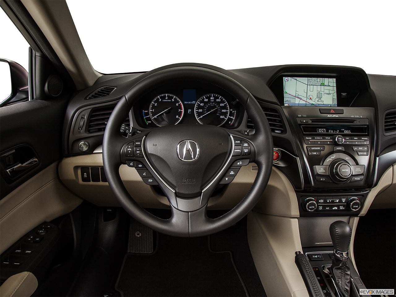 2014 Acura ILX Hybrid Base Steering wheel/Center Console.