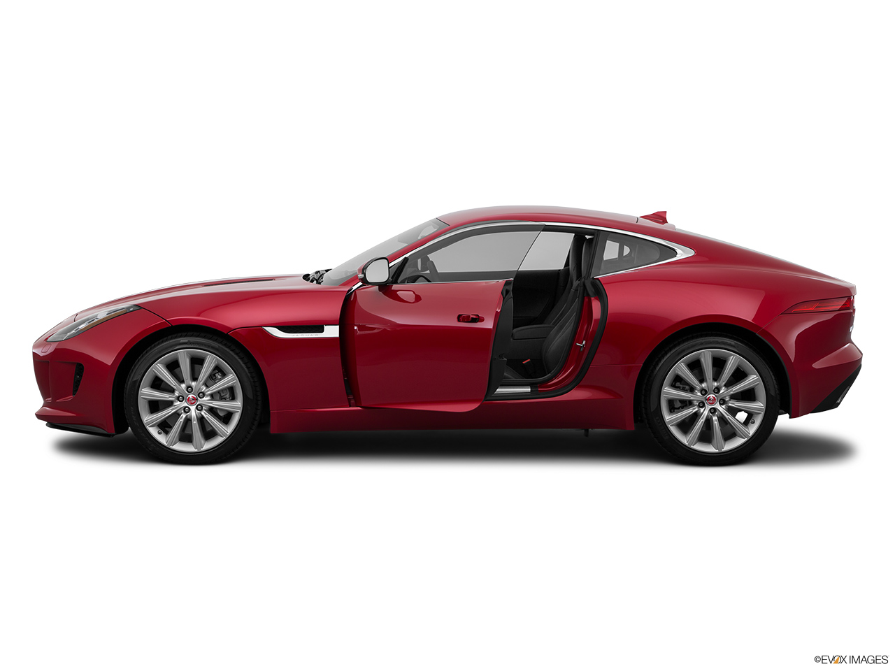 2015 Jaguar F-Type Coupe Base Driver's side profile with drivers side door open.