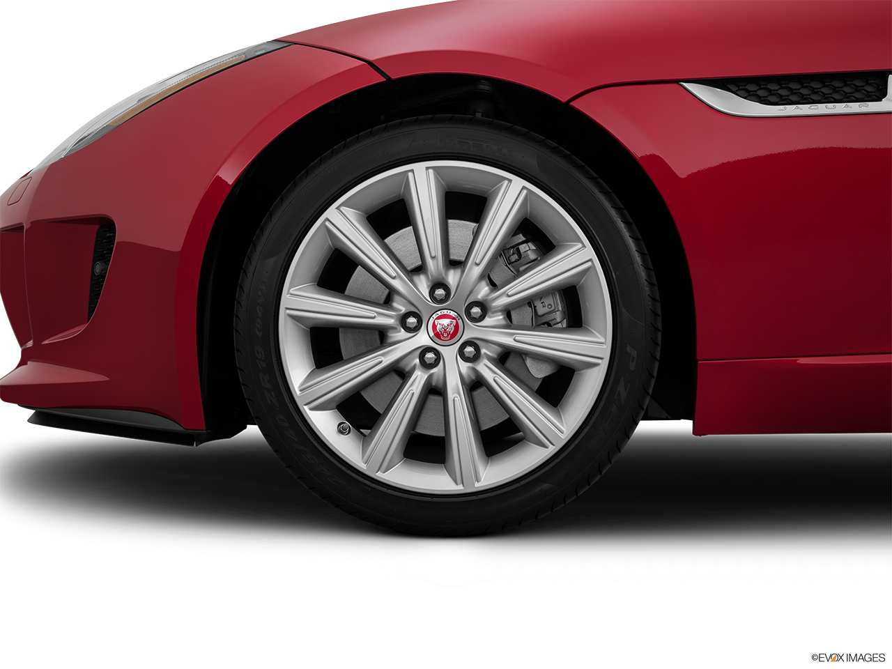 2015 Jaguar F-Type Coupe Base Front Drivers side wheel at profile.
