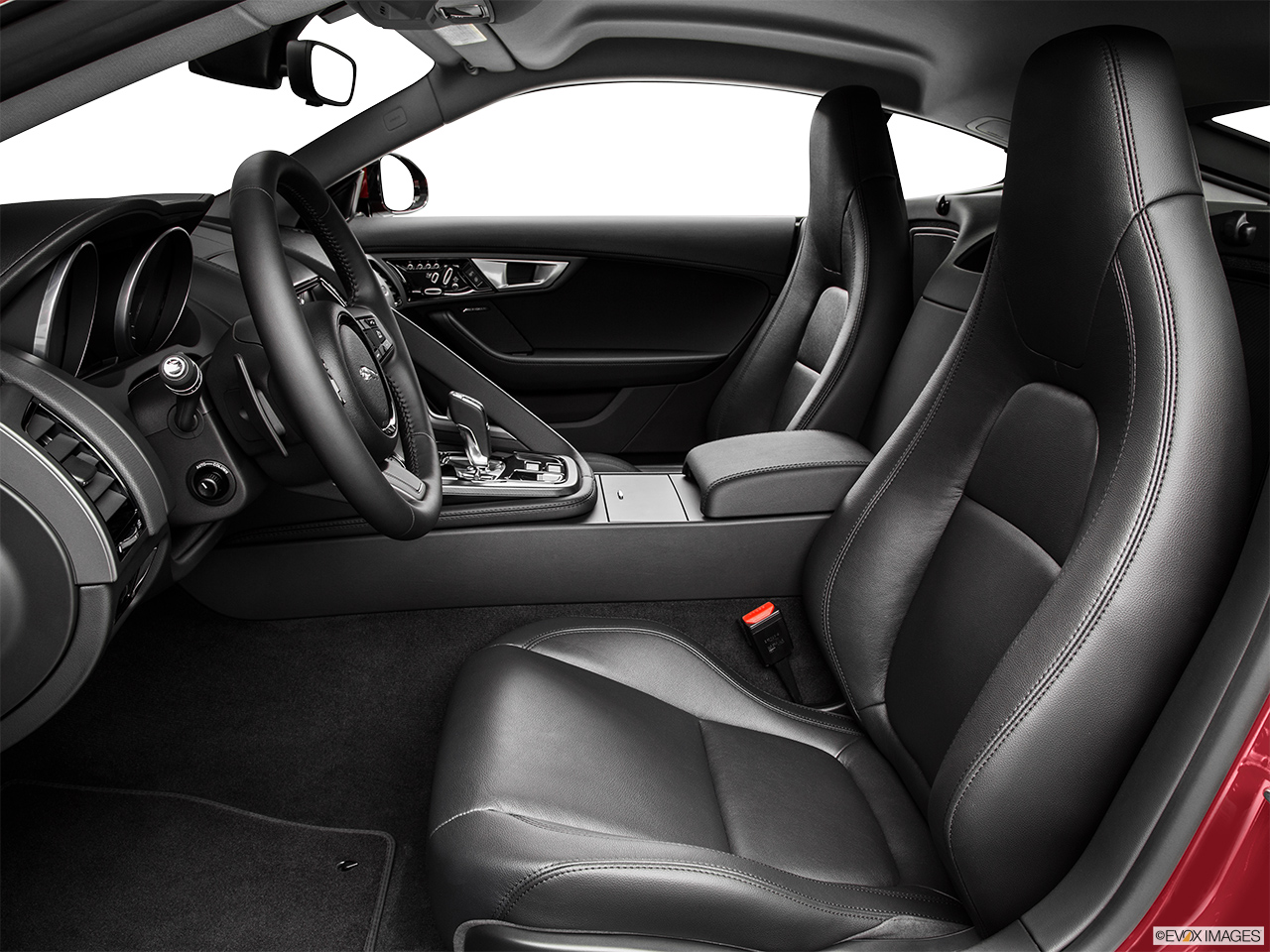 2015 Jaguar F-Type Coupe Base Front seats from Drivers Side.