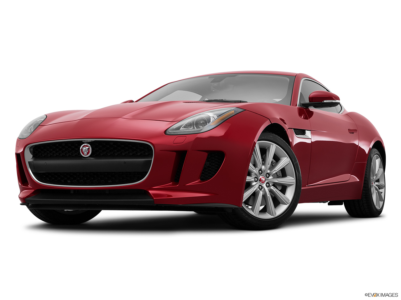 2015 Jaguar F-Type Coupe Base Front angle view, low wide perspective.